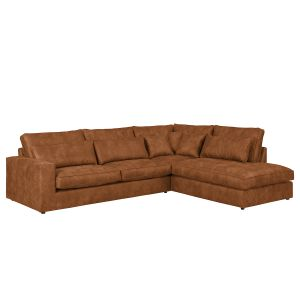 Ecksofa Coolock Antiklederlook