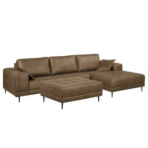 Ecksofa Flesk Antiklederlook