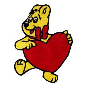 Kinderteppich Goldbaer mit Herz