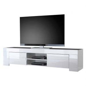 Tv-lowboard Gladiolo Hoogglans Wit-Wit, LC Mobili