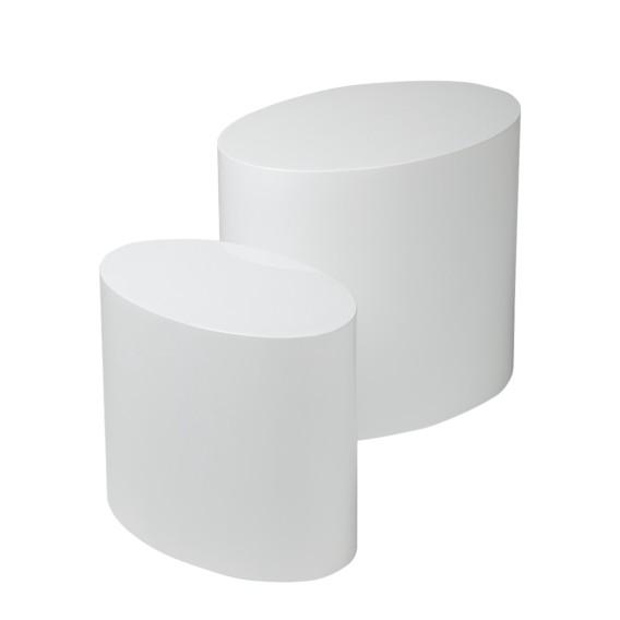 Beistelltisch Set Elipse Weiß Home24
