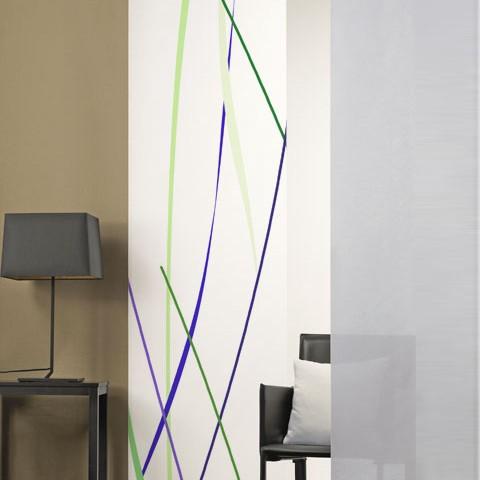 Flächenvorhang Flächenvorhang Lila Linien grün Linien Flächenvorhang Linien Lila grün oedCxB