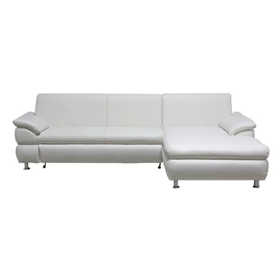 ecksofa orlando kunstleder wei home24. Black Bedroom Furniture Sets. Home Design Ideas