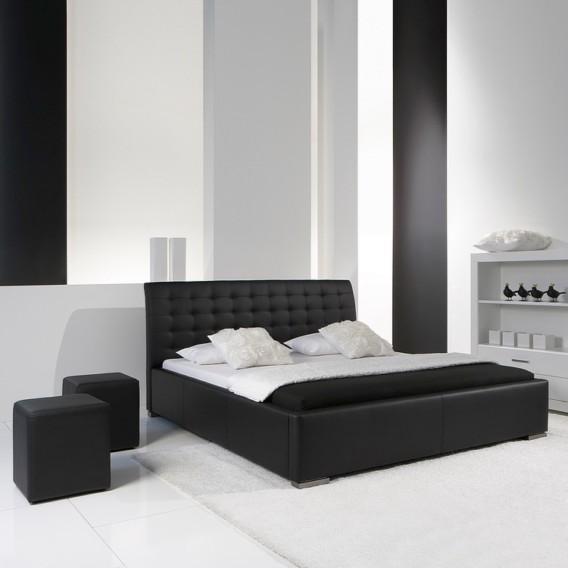 Comfort Kunstleder Polsterbett Isa X 200cm Schwarz180 lTuK1Fc3J
