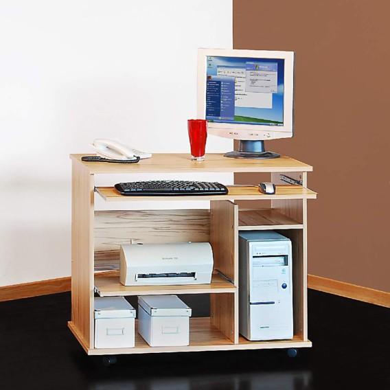 bureau roulettes zelma avec tablette coulissante pour clavier. Black Bedroom Furniture Sets. Home Design Ideas