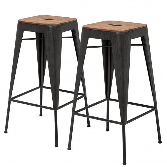 design intemporel 21388 04851 Tabourets de bar Manchester (lot de 2)