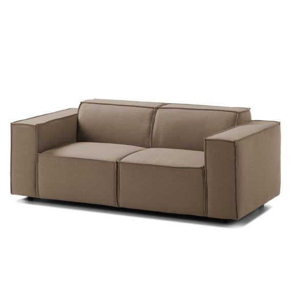 Wohnzimmermöbel Cappuccino: Sofa Kinx (2-Sitzer) Webstoff