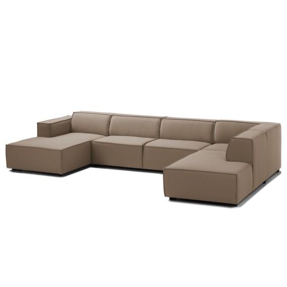 Wohnzimmermöbel Cappuccino: Wohnlandschaft Kinx Webstoff