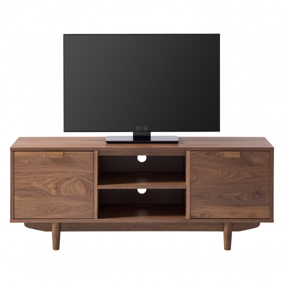 Gummibaum TeilmassivWalnuss Hanson lowboard Tv 54q3RLAj