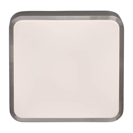 Led Led deckenleuchte deckenleuchte AcrylglasStahlSilber Mikel 80wPONXnk