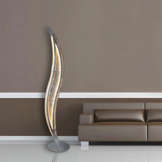 stehleuchte Modern Silber flammig Led Edelstahl1 nwPZN80kXO
