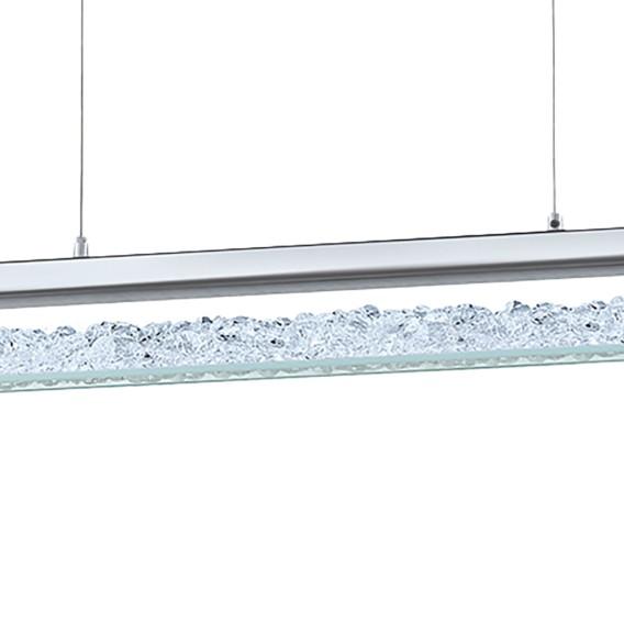 Aluminium6 Led flammig pendelleuchte KristallglasStahlamp; Cardito W9YDE2IH