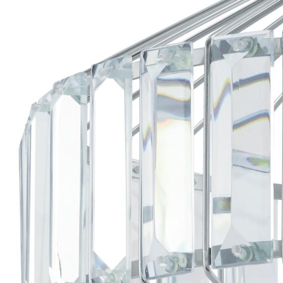 KristallglasStahl1 Pedrola Pendelleuchte Pendelleuchte Pedrola flammig c3ASR5L4jq