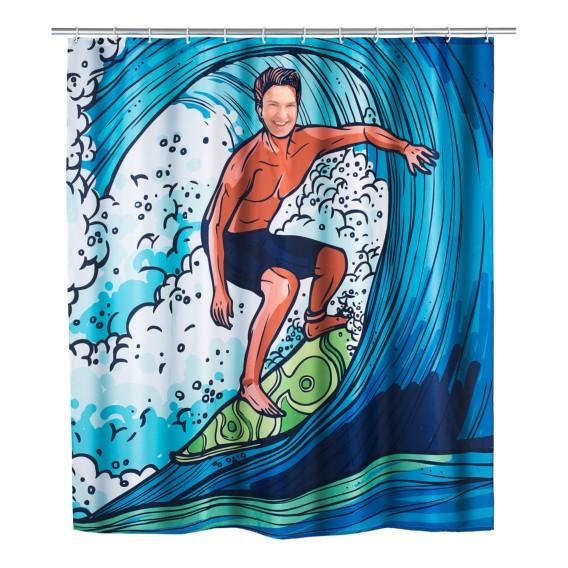 Surfing Boy KunstfaserBlau Duschvorhang Surfing Boy Surfing KunstfaserBlau Duschvorhang Duschvorhang KunstfaserBlau Boy K1clJF