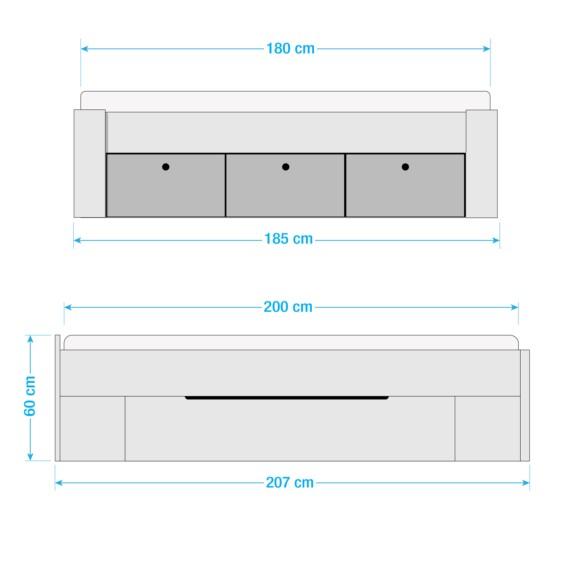 X Scala 200cm Bett Ii Alpinweiß180 8PymnwvN0O