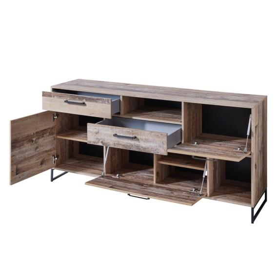 Sideboard Mooca Mooca Usedwoodmix DekorAnthrazit Sideboard xroWQCEedB