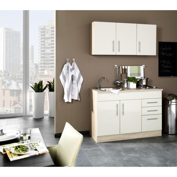 küchenzeile Single 120 Cm Hochglanz Toronto CremaKochplatte rdthsQ