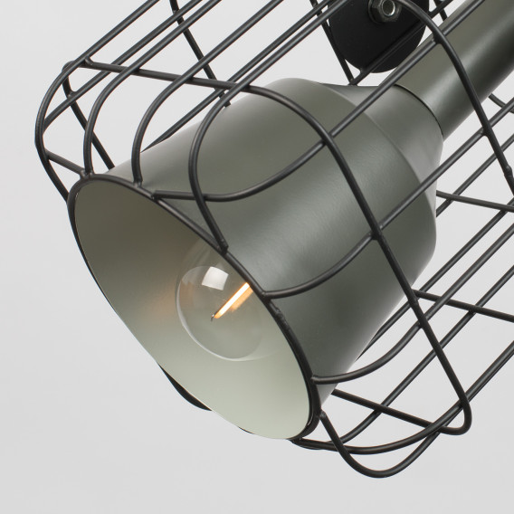 Cage Pendelleuchte Schwarz I AluminiumEisen1 flammig yYbf7vg6