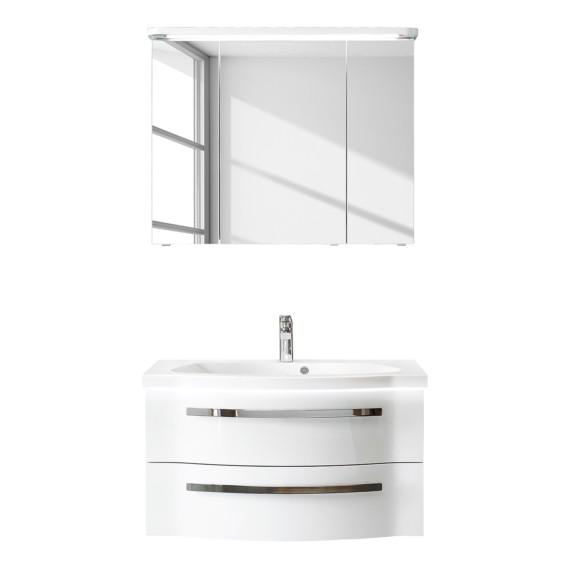 Weiß 4005 Badezimmerset Fokus teiligInklBeleuchtungHochglanz Iv2 PkZO8N0nwX