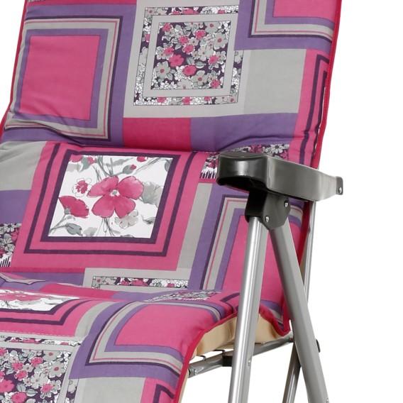 MischgewebeStahlSilber Azur Pink Liegestuhl MischgewebeStahlSilber Liegestuhl Azur Pink 9H2IEDYW