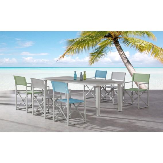 Chaises de jardin Messina (lot de 2) - Aluminium / Tissu