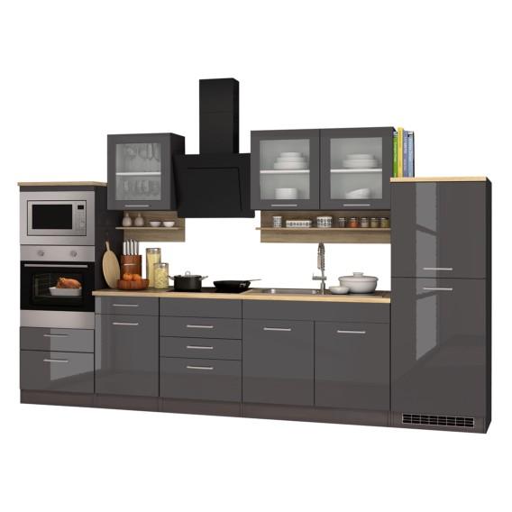 Glaskeramik Elektrogeräten GraphitMit Küchenzeile V Mailand OPXn0w8k