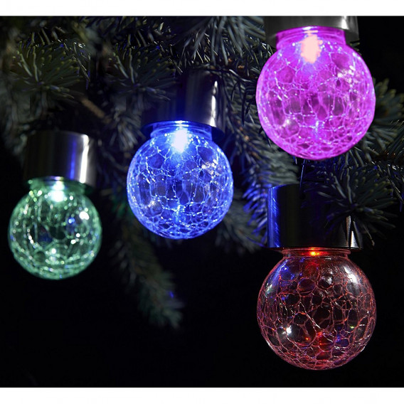 außenwandleuchte Crackle flammig Ball Led KristallglasEdelstahl1 QrsChdtx