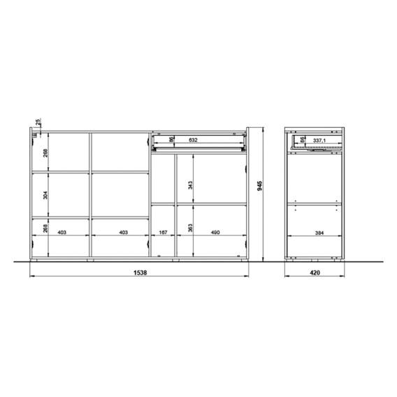 Sideboard WeißGraphit Sideboard Sideboard Veluva Veluva Veluva WeißGraphit tQxshrdC