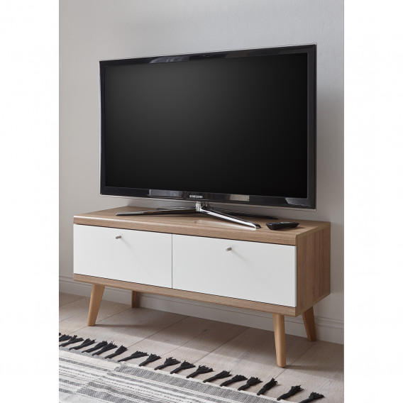 I Gyland Tv lowboard WeißEiche Riviera Dekor Matt dQsrxtCh