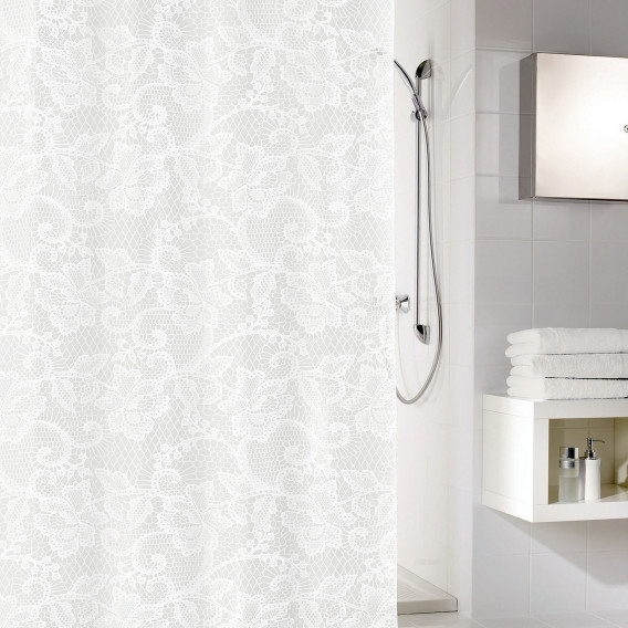 Duschvorhang Duschvorhang Duschvorhang KunststoffWeiß Spitze Spitze Spitze KunststoffWeiß IeH9EYWD2