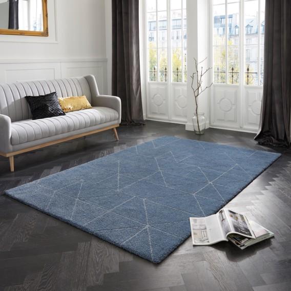 Kurzflorteppich Arles 200 290 KunstfaserJeansblau Cm X Nw0vm8n