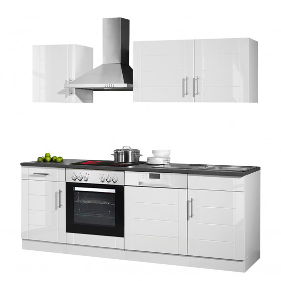 Elektrogeräten Ii Hochglanz Küchenzeile WeißAnthrazitMit Nevada wm0nN8