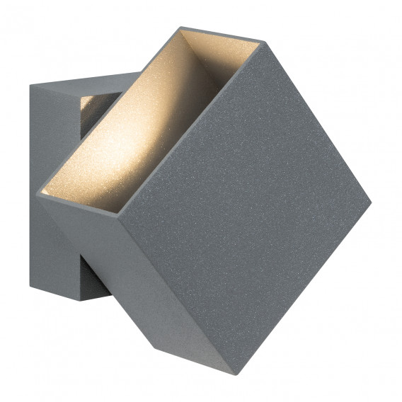 wandleuchte Ii Aluminium2 Led Cybo Grau flammig 2WEDHY9I