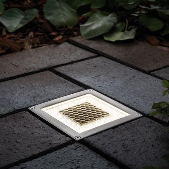 AcrylEdelstahl1 Cube Solar Led wegeleuchte flammig QdxstBChr