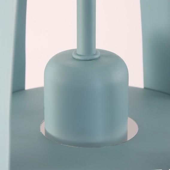 Mexlite Xv Pastellblau flammig Pendelleuchte Stahl1 4L3R5Aj