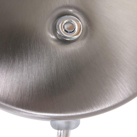 wandleuchte EisenAcrylglas1 Silber flammig Zenith Led 8XnkP0wO