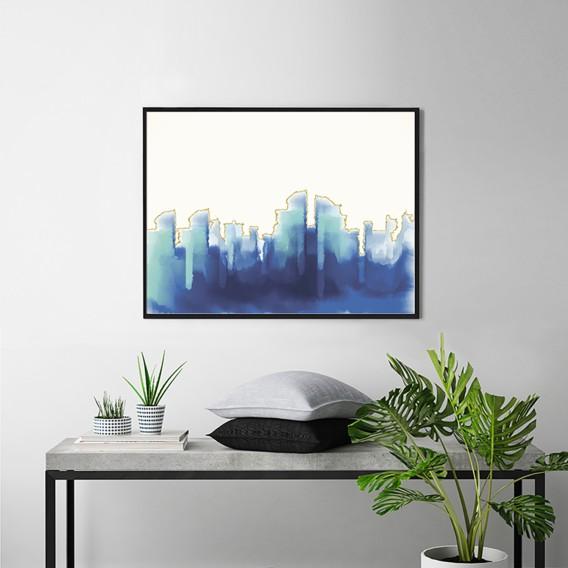 Abstract Buche 62 Cm Bild MassivPlexiglas82 Blue X EDIeWH9Y2