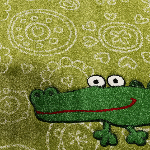 170 Cm X WebstoffGrün Kinderteppich 120 Crocodile 6vIgYbfm7y
