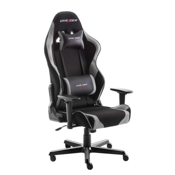 Gaming Chair Dx Racer V2 Mesh Kunstleder Schwarz Grau