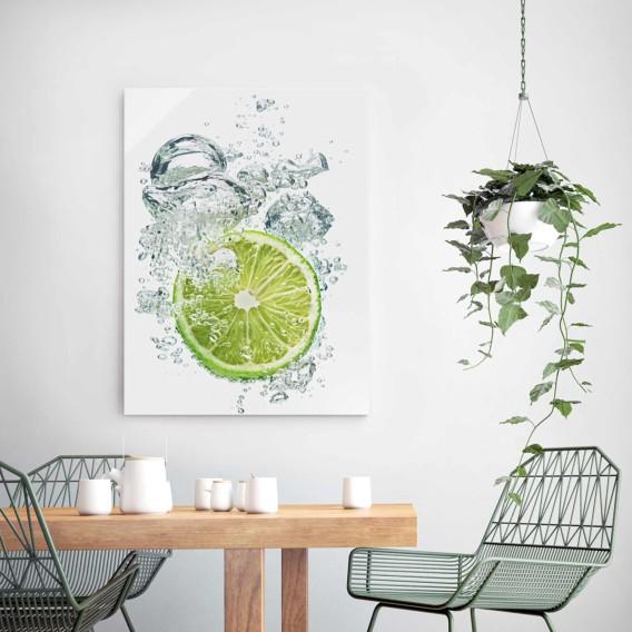 Mehrfarbig X KücheLime Echtglas Bild Cm Bubbles 75 100 Starkes 2eWIDY9EH