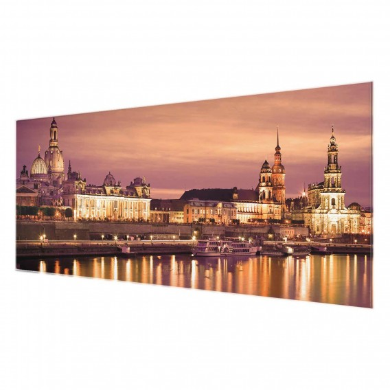 Dresden Bild Canalettoblick Starkes Cm 30 80 X EchtglasMehrfarbig lK1uF3TJc5