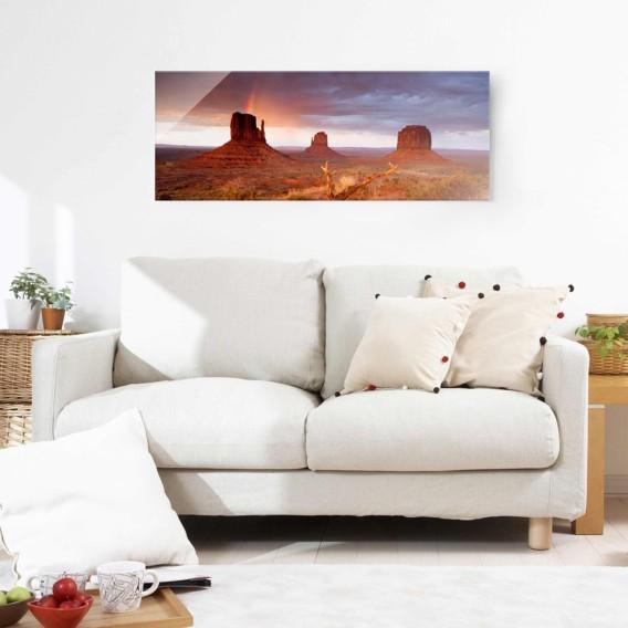 80 X Cm Starkes Monument Bei Sonnenuntergang Bild Valley 30 EchtglasMehrfarbig 1JF3uKTlc
