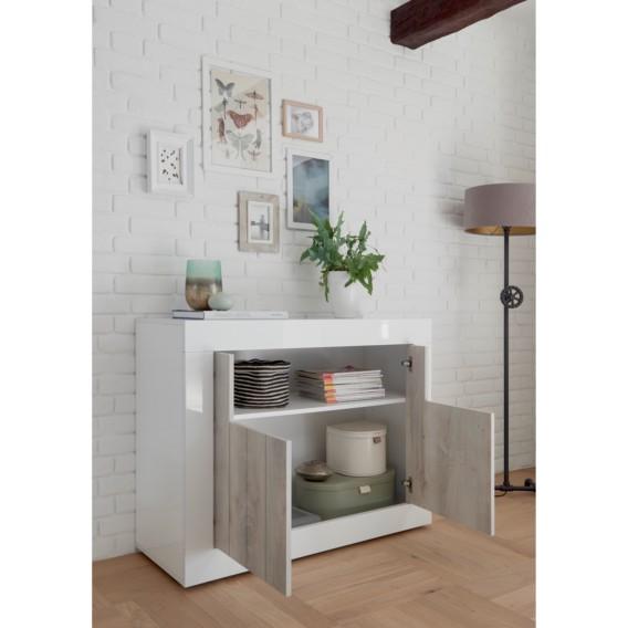 I Urbino Sideboard Weiß Dekor Pinie 8wP0kOn