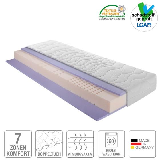 Basic 7 Komfort gel H2 X Sleep zonen 200cm Kaltschaum matratze140 Gel OkPuZiX