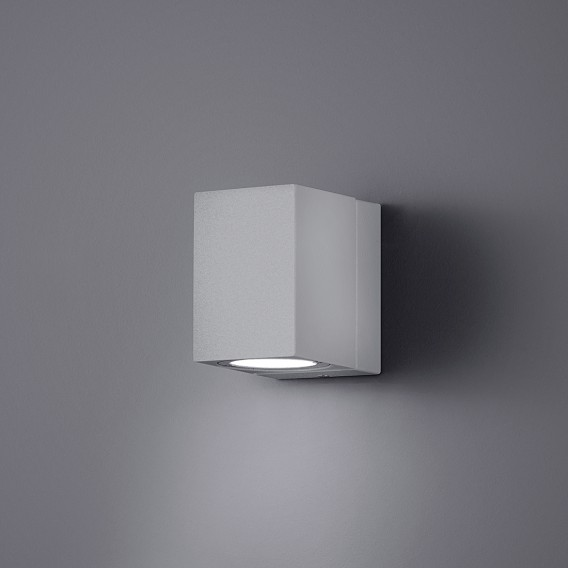 AluminiumKunststoffTitanfarbig Tiber 1 Led außenleuchte flammig Rj53A4L