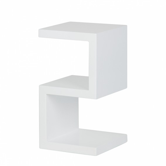 beistelltisch snake hochglanz weiss home24. Black Bedroom Furniture Sets. Home Design Ideas