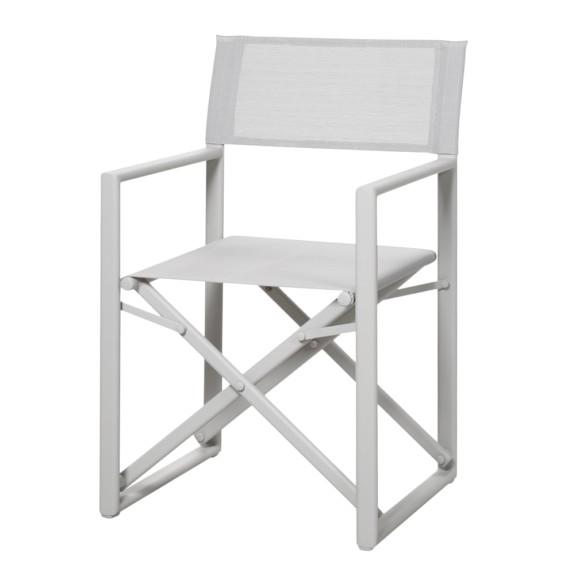 Chaise de jardin Messina III - Aluminium / Ergotex Crème