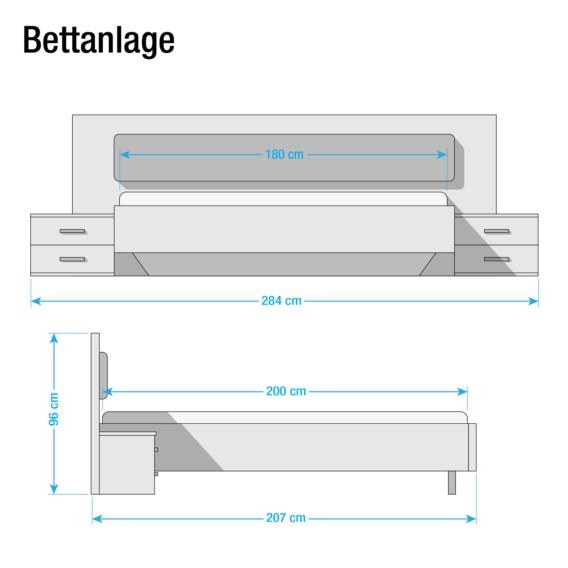 X 200cm WeißBasalt180 Bettanlage Leimen Bettanlage Leimen u1clJ3KTF