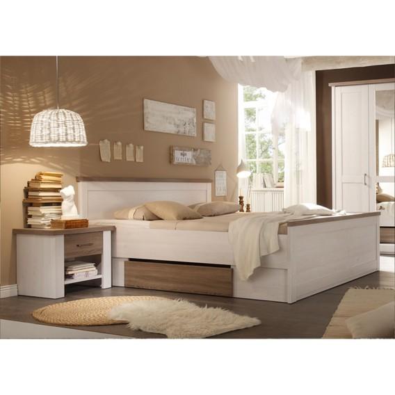 Schlafzimmer Set Rajada In Weiß Braun: Jetzt Bei Home24: Bettanlage Von Modoform