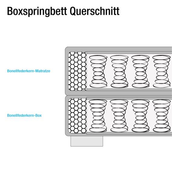 Bonellfederkernmatratze Baila X 200cmH2 Boxspringbett 160 Anthrazit mwv8y0ONnP